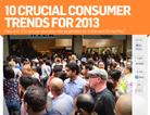 Consumer trends for 2013