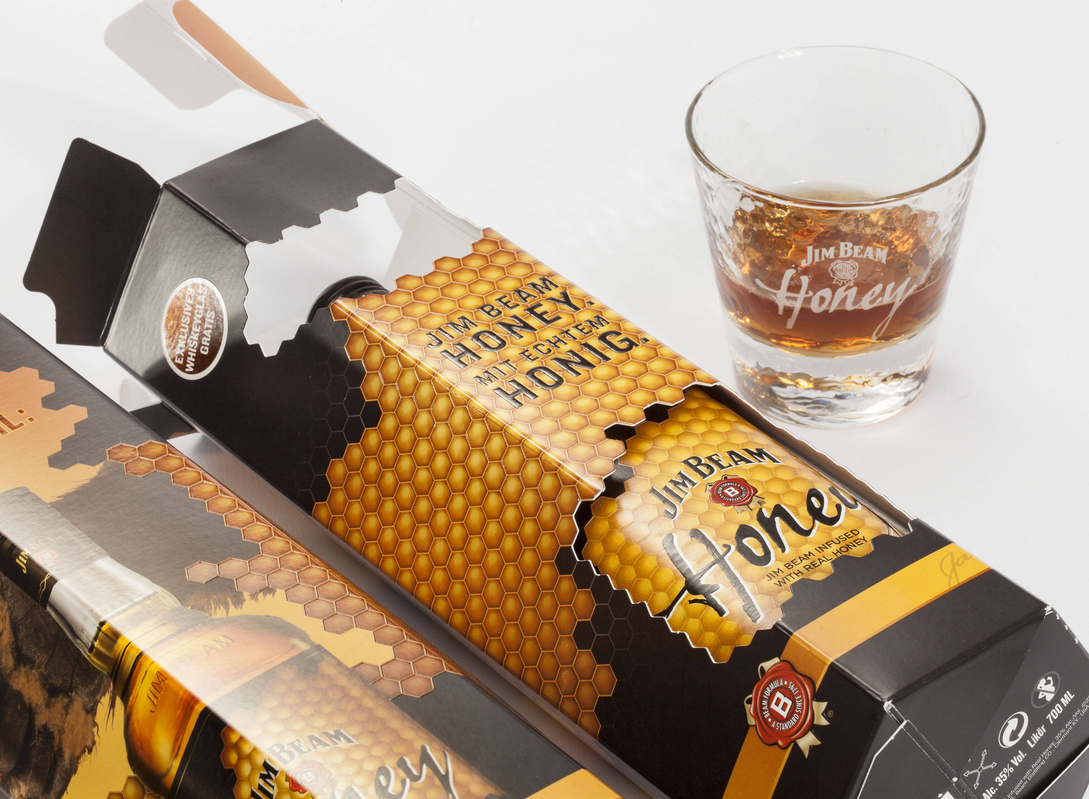 Jim Beam Honey Promotional Packaging