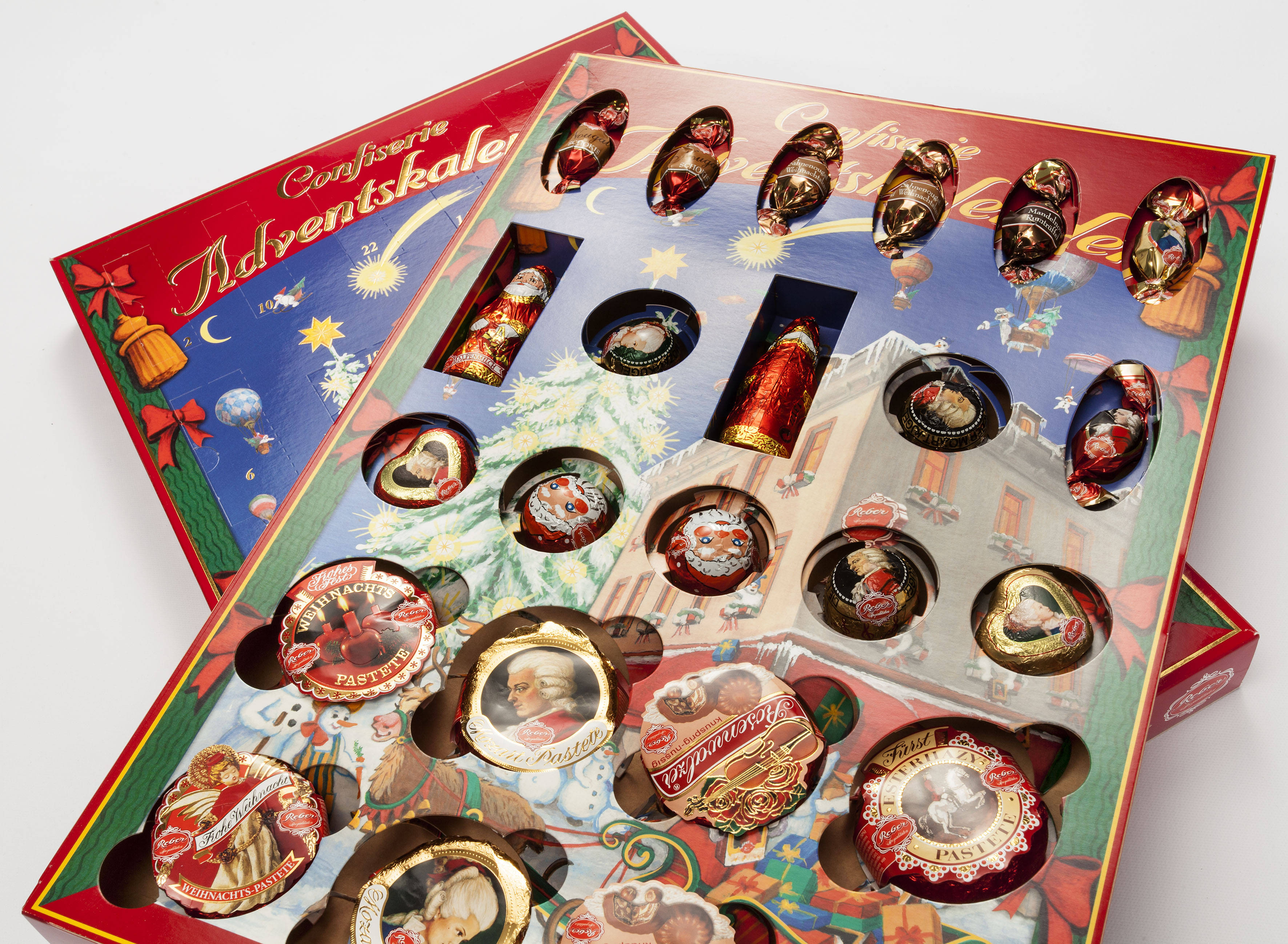 Confiserie Reber Advent Calendar with innovative Carton-Inlay