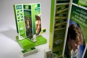 Espositore da banco girevole Tantum Verde per pastiglie