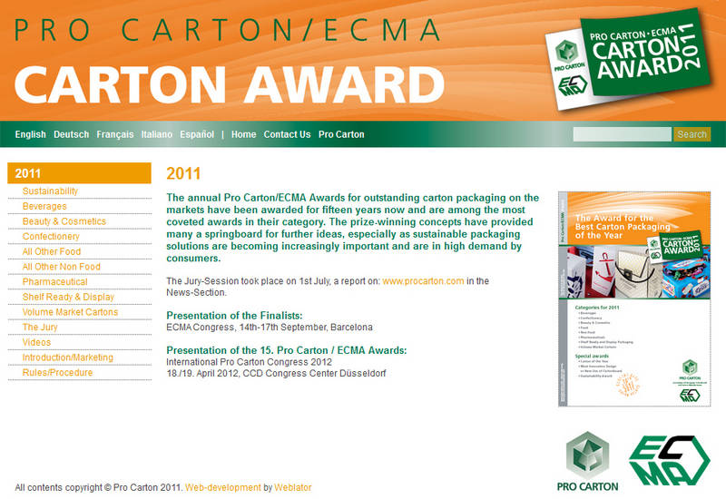 Pro Carton/ECMA Award: the finalists