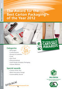Call for entries: Pro Carton/ECMA Award 2012