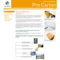 Pro Carton launches new Resource Efficiency section on its website.