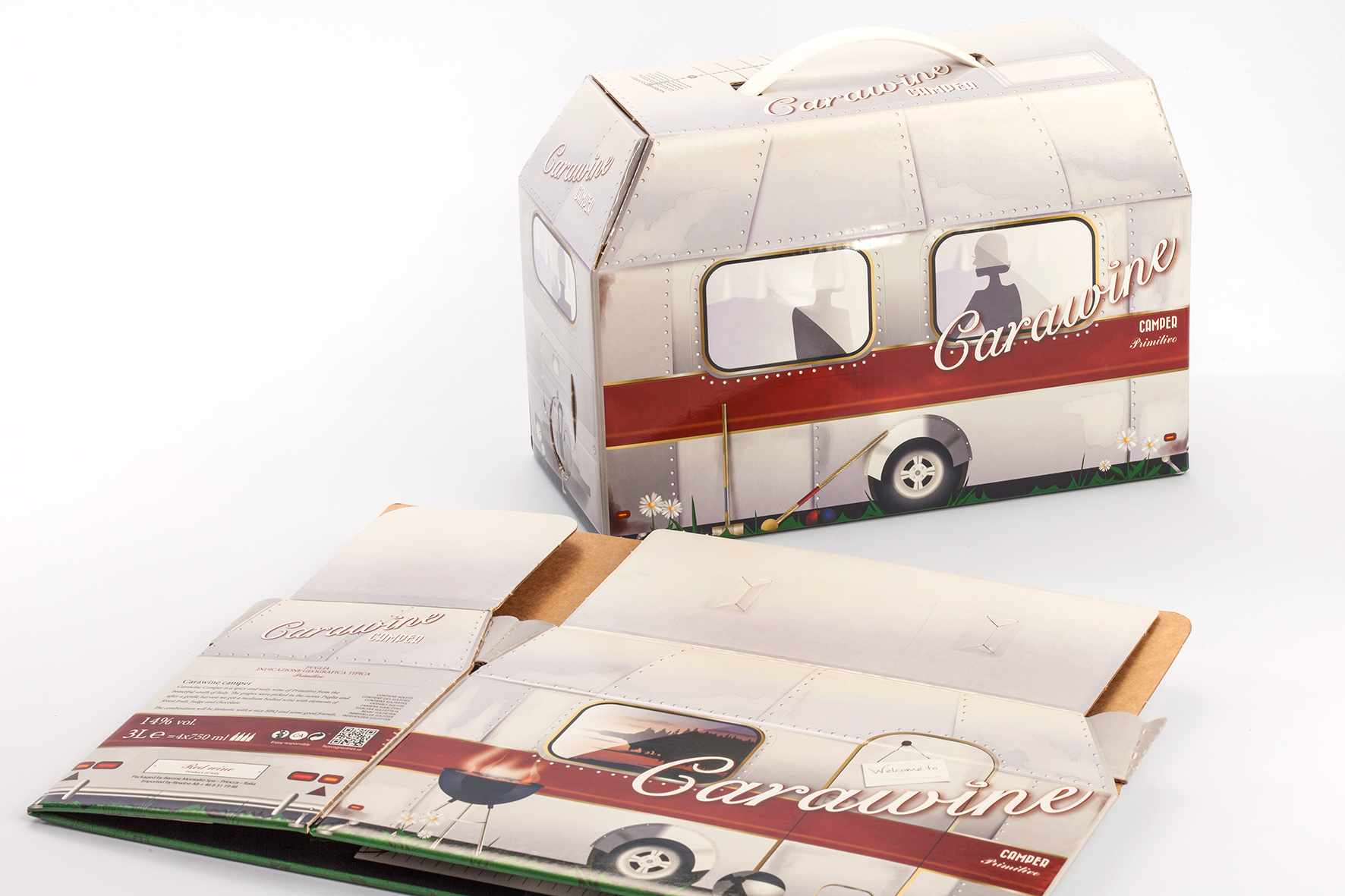Astuccio Bag in Box Carawine Camper Primitivo Puglia