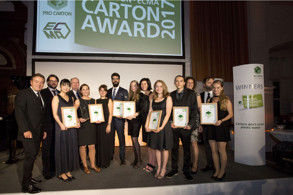 PRO CARTON YOUNG DESIGNERS AWARD: TOMORROW'S EUROPEAN STARS