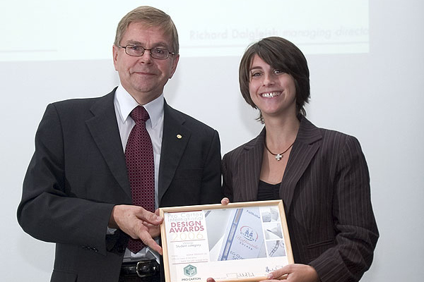 Adina Seehaus with Esko Boman, Chairman of Pro Carton Nordica