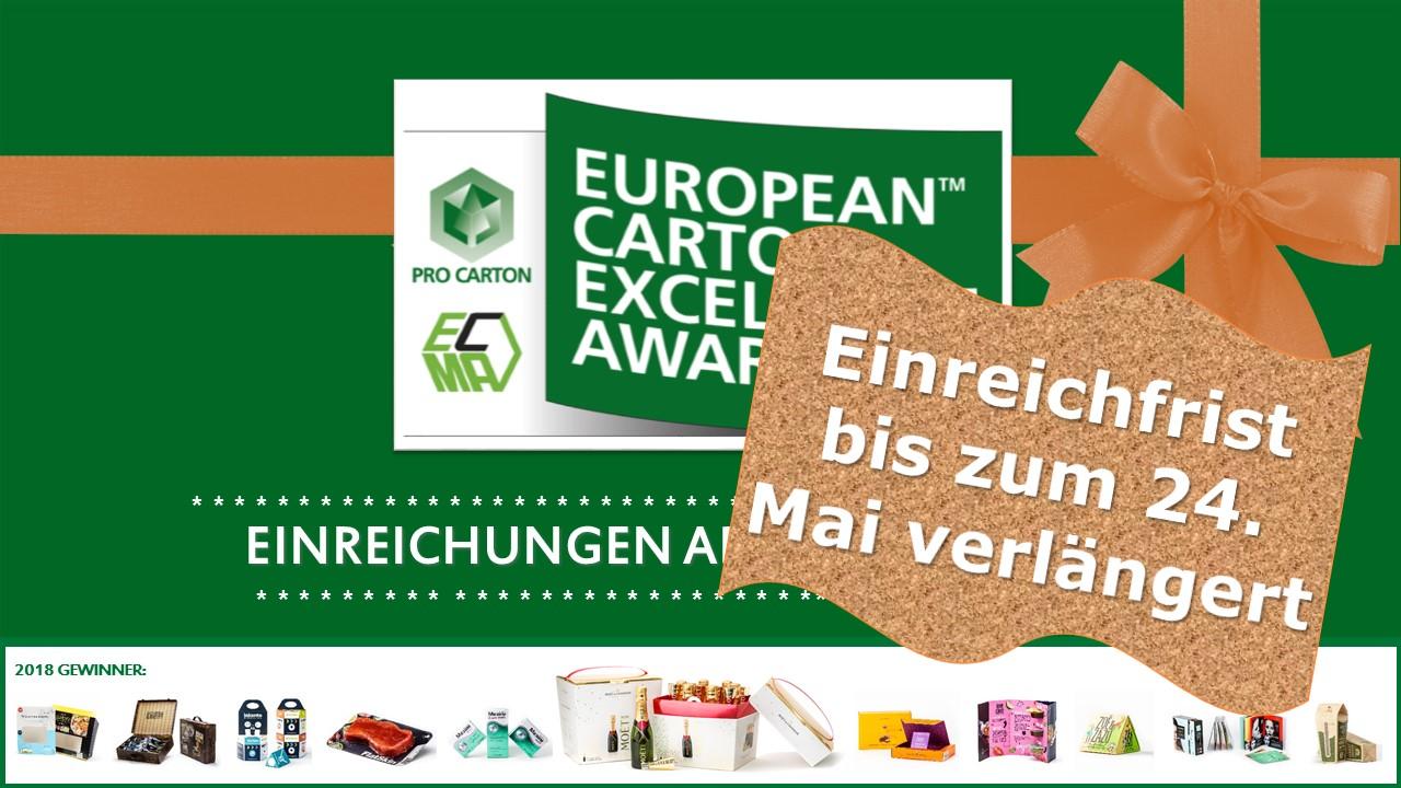 EUROPEAN CARTON EXCELLENCE AWARD : NOCH MEHR MÖGLICHLICHKEITEN GEWINNEN