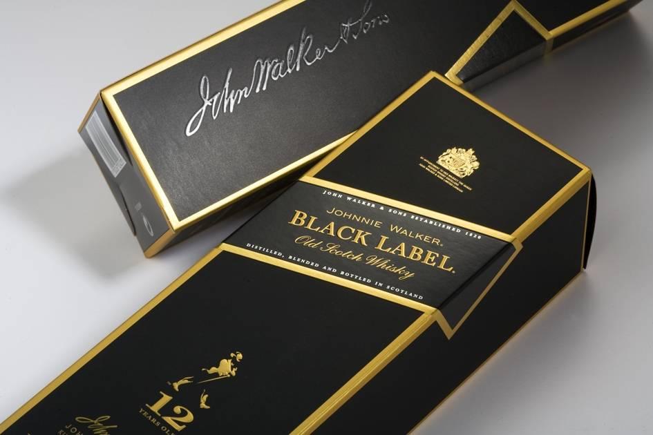 Johnnie Walker Black Label 70/75 cl carton 3