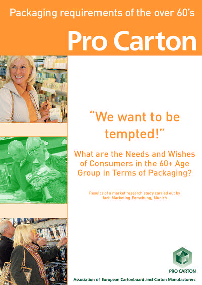 Packaging Requirements of the over 60's