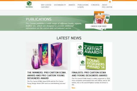 Nuevo diseño de la página web de Pro Carton