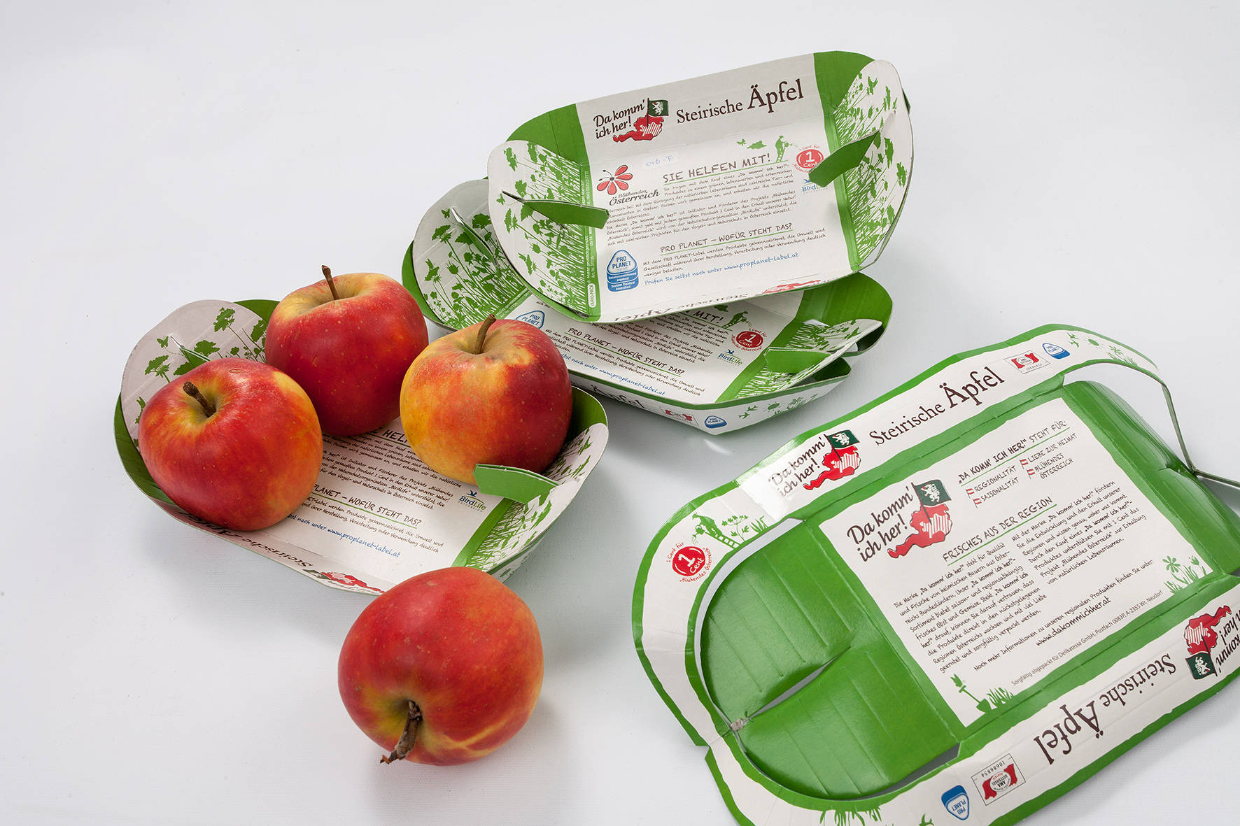Vario-Tray for round fruits
