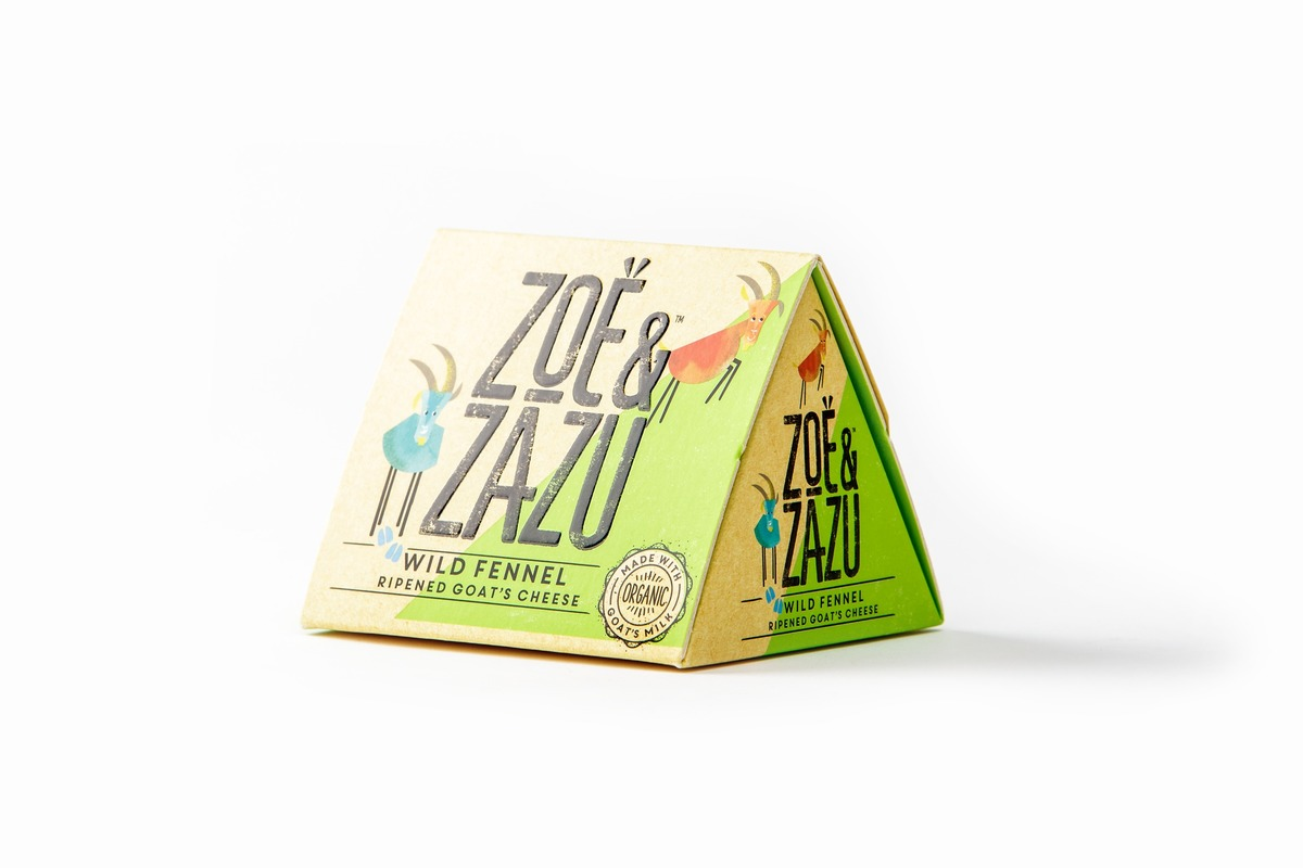 Zoe & Zazu Goat Cheese Packaging