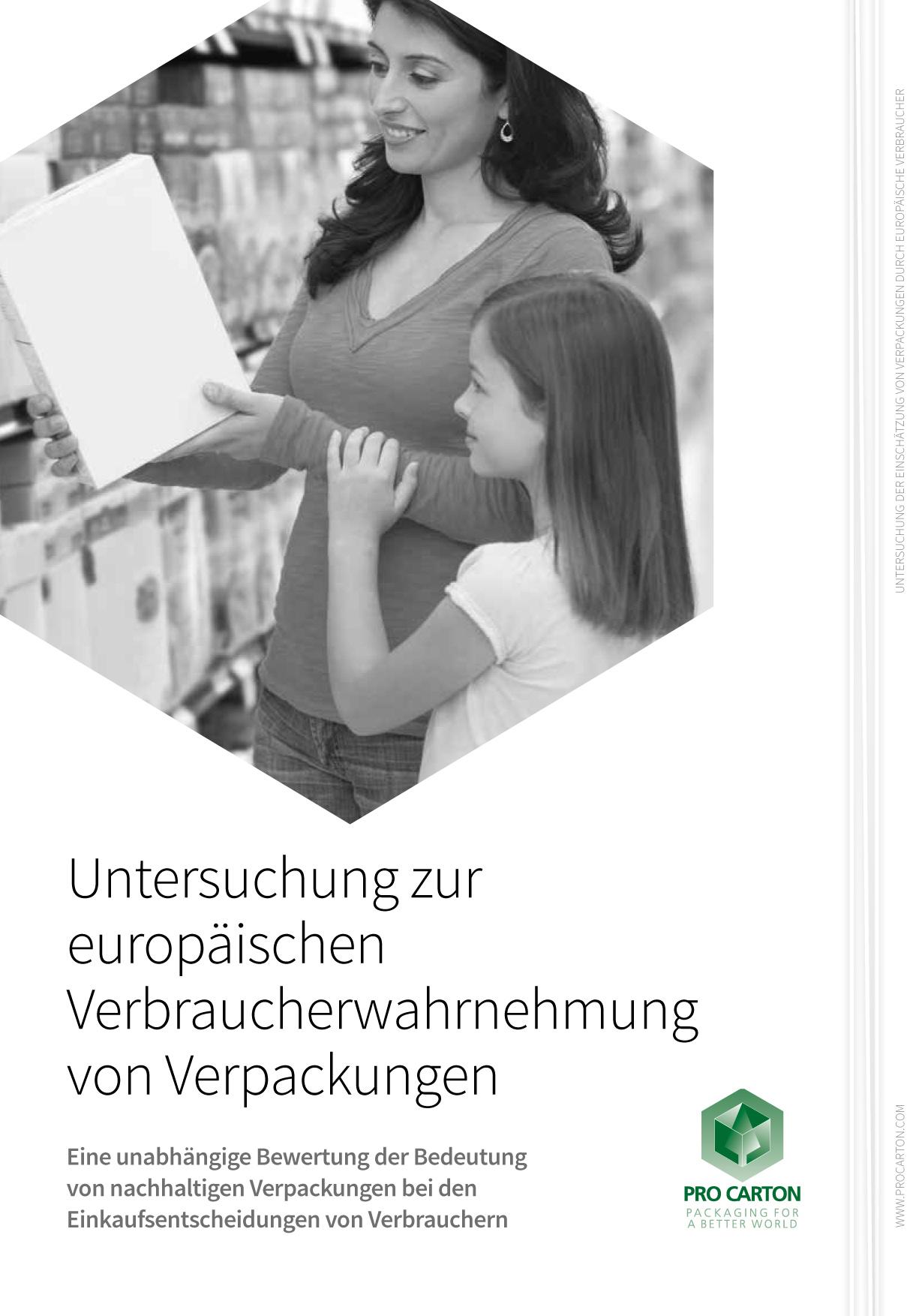 Untersuchung zur europäischen Verbraucherwahrnehmung von Verpackungen