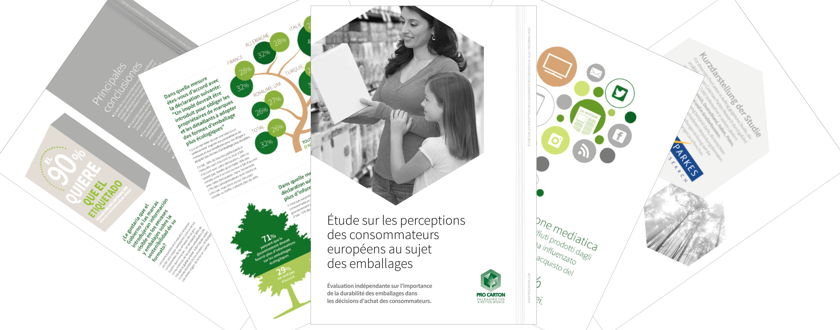 Étude sur les perceptions des consommateurs européens au sujet des emballages