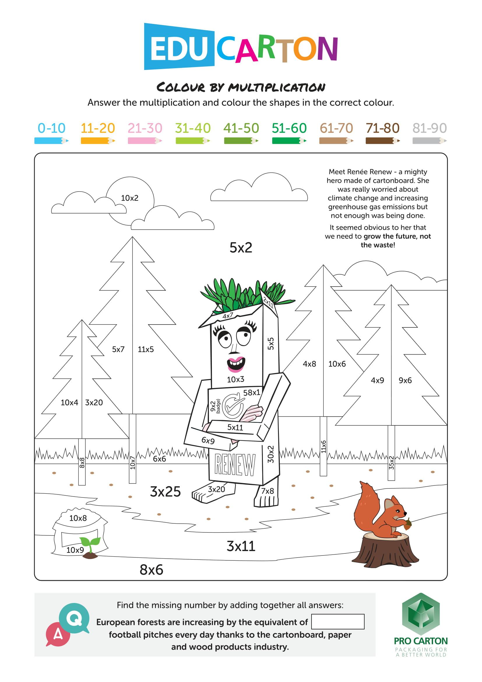 EduCarton Colouring Worksheet