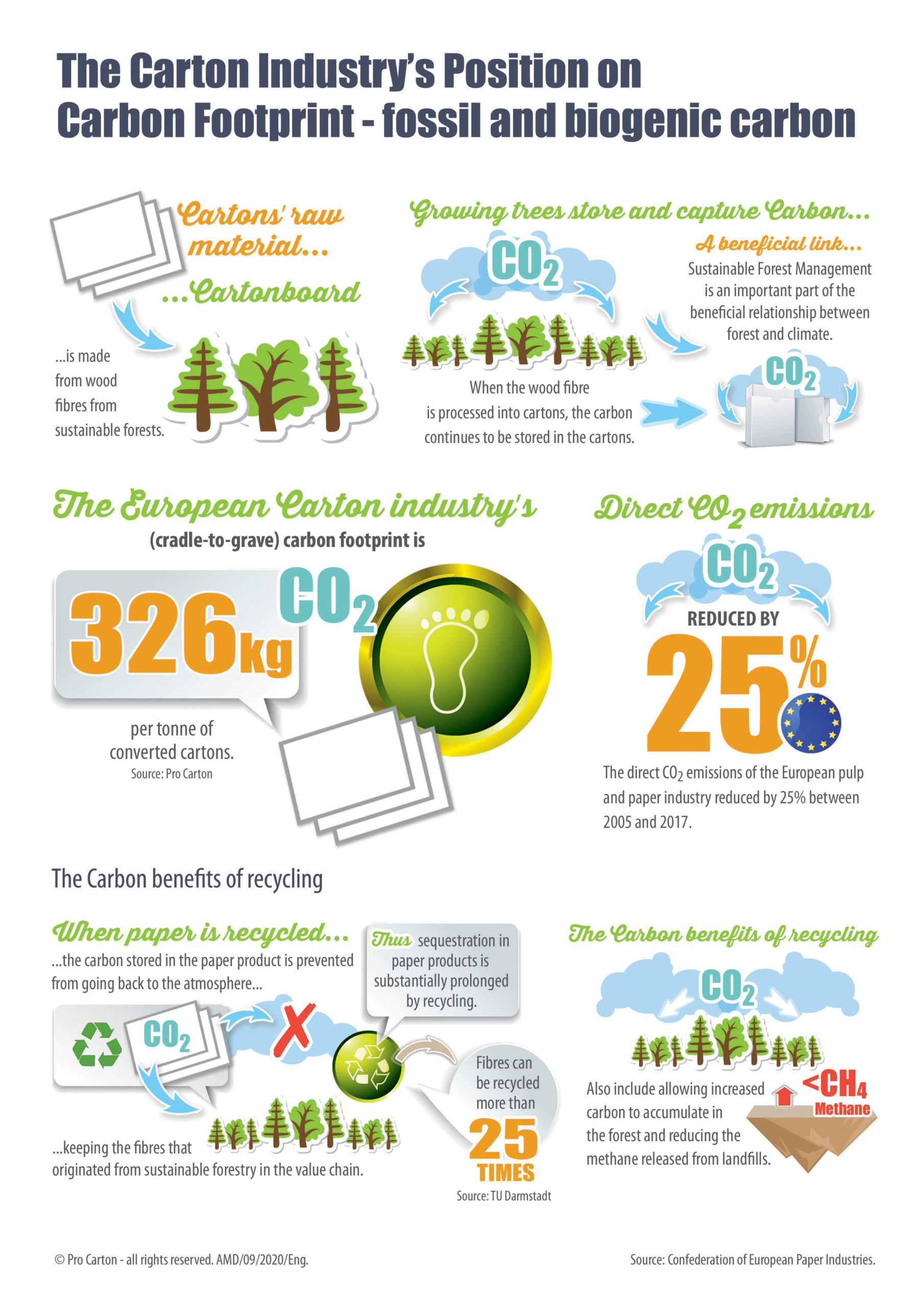 Updated Pro Carton Environmental Infographics