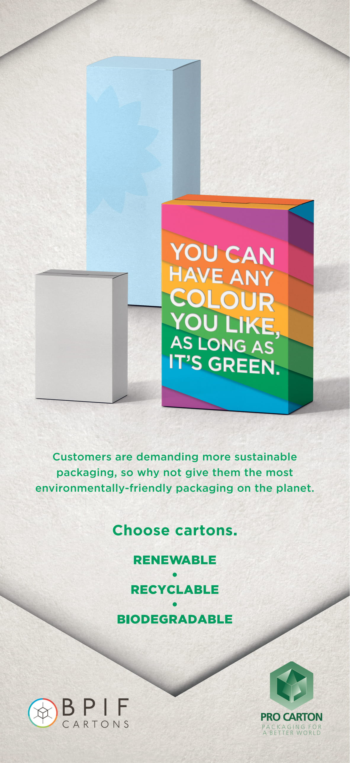 Pro Carton adverts feature in The Times and The Guardian newspapers