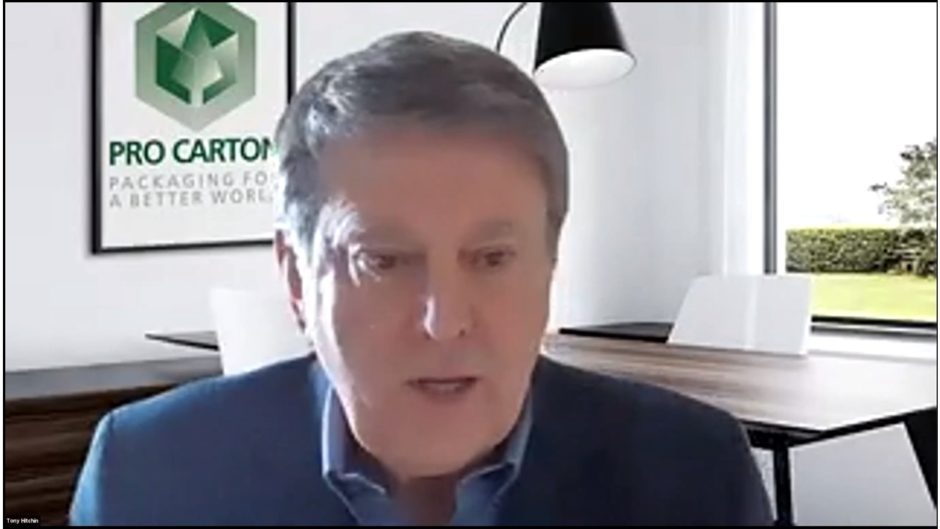 The Webinar was hosted by Tony Hitchin, General Manager of Pro Carton.