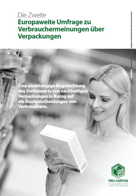 Die Zweite Europaweite Umfrage zu Verbrauchermeinungen über Verpackungen