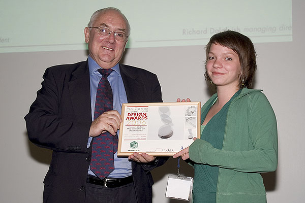 Johanna Nielson with Mike Clark, President of Pro Carton