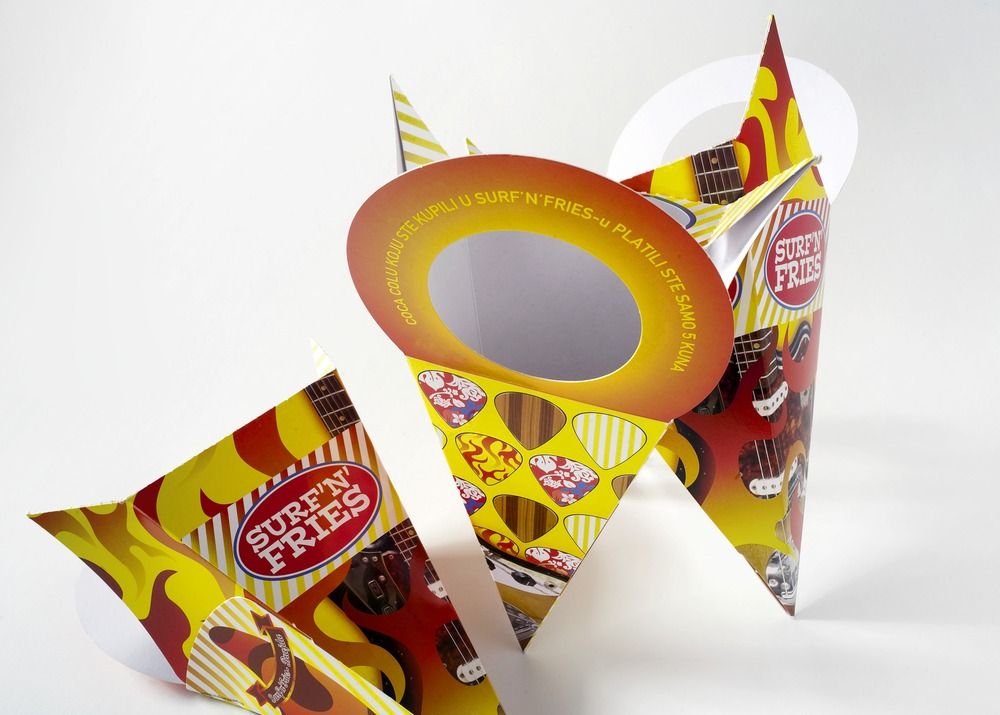 French fries take & go holder