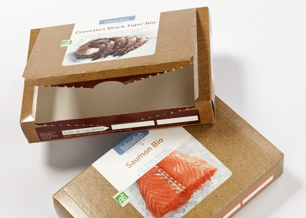 Fish & More Faltschachtel aus Barriere Karton Grease Guard