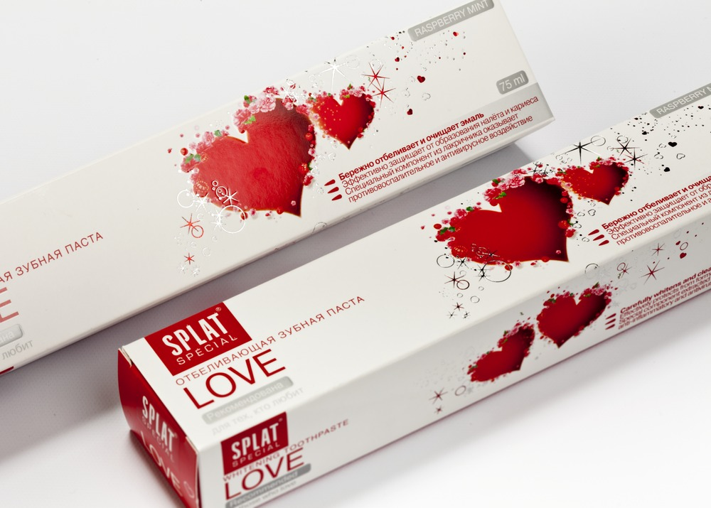 "Tooth paste box ""Love"""