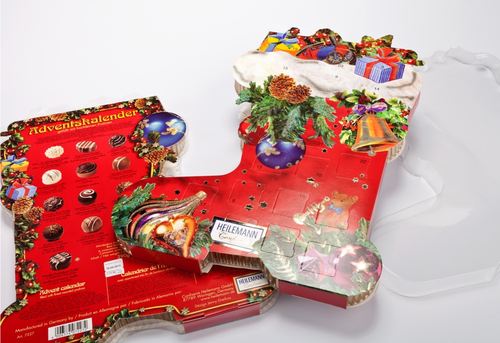 Premium-Adventskalender in Stiefelform