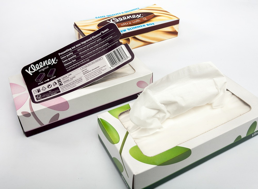 "Kleenex ""Slim"" Pack for Facial Tissues"