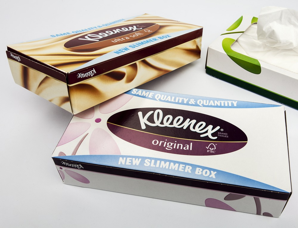 "Kleenex ""Slim"" Pack for Facial Tissues 3"