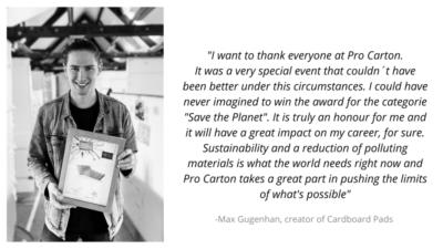 Comment by Cardboard Pads designer Max Gugenhan