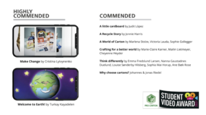 4. Highly commended and commended