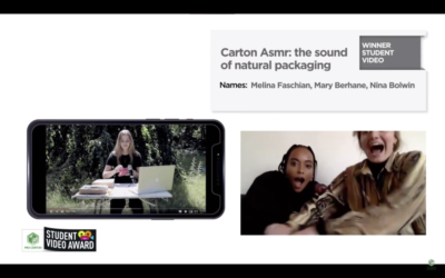 Carton ASMR – The sounds of natural packaging by Melina Faschian, Mary Berhane, Nina Bolwin